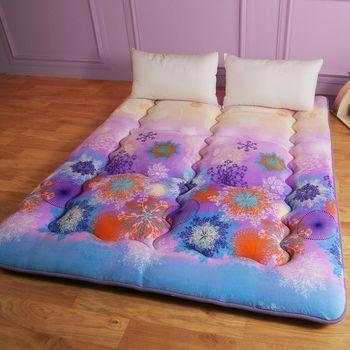 【契斯特】八公分超厚實京都日式床墊-雙人5尺-漸層蝶豆花