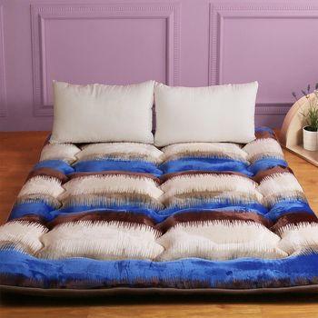 【契斯特】八公分超厚實京都日式床墊-雙人5尺-經典條紋