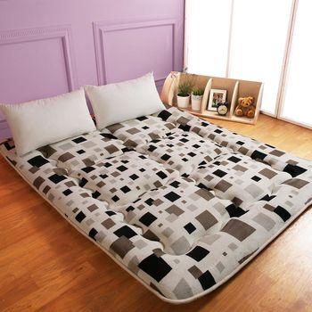 【契斯特】八公分超厚實京都日式床墊-雙人5尺-創意格子