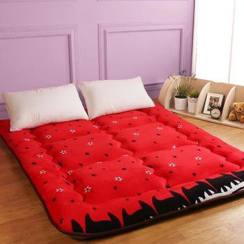【契斯特】八公分超厚實京都日式床墊-雙人5尺-星星紅