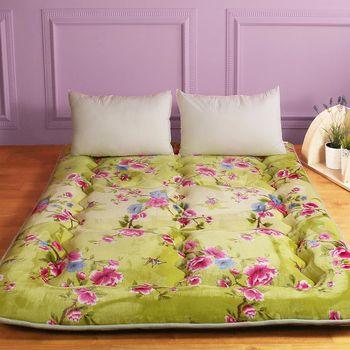 【契斯特】八公分超厚實京都日式床墊-雙人5尺-花開滿庭