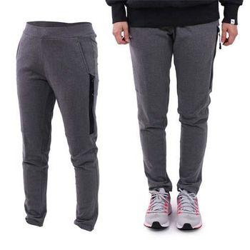 【KAPPA】女針織長褲-慢跑 路跑 訓練 有氧 灰白