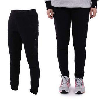 【KAPPA】女針織長褲-慢跑 路跑 訓練 有氧 黑白