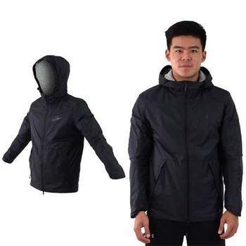 【NIKE】男梭織夾克外套-慢跑 路跑 連帽 黑