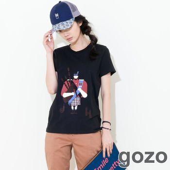 gozo 英式閱兵進行曲短T (黑色)