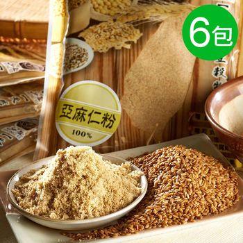 【弘益傳香世家】傳承古法100%亞麻仁粉6包組 (300g/包)