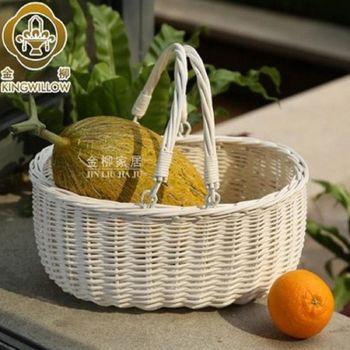 [協貿國際]   家居柳編收納籃野餐籃