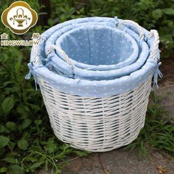 [協貿國際]   家居籐編柳編髒衣服收納筐