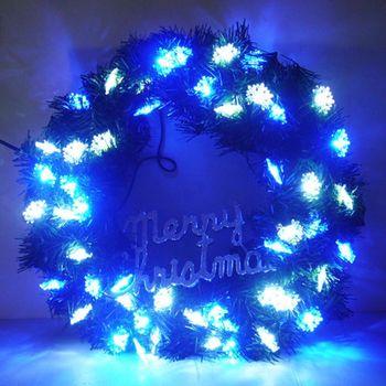 20 吋LED雪花燈花圈 (藍白光-含IC控制器可變換閃爍方式)