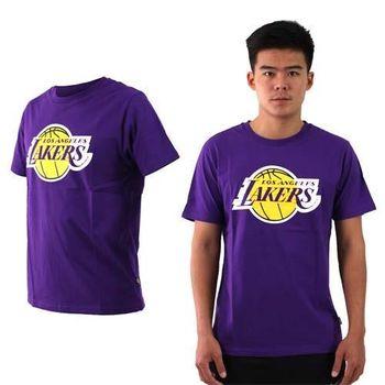【NBA】湖人隊-男女美國職籃印花圓領短袖T恤-籃球 LAKERS 紫黃