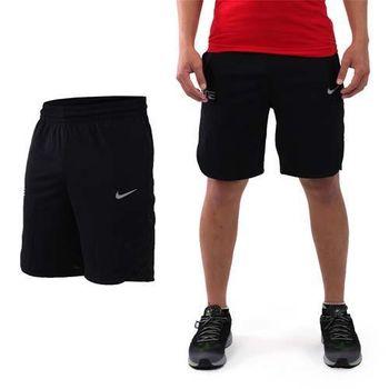 【NIKE】男針織短褲-慢跑 路跑 訓練 五分褲 黑灰