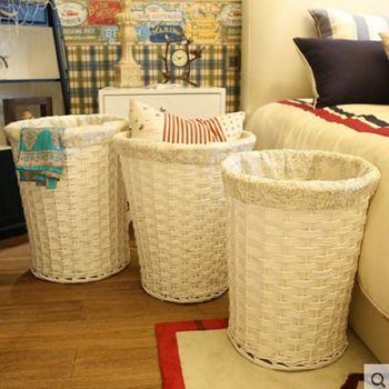 [協貿國際]  家居柳編髒衣服收納桶