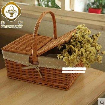 [協貿國際]   家居野餐籃食品收納籃