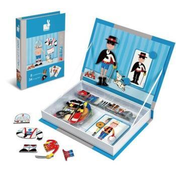 【法國 Janod】磁鐵遊戲書-男孩變裝秀