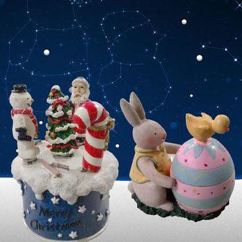 《TSY》聖誕禮品組(彩蛋燭台+聖誕叉子組)