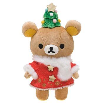 San-X 拉拉熊2016聖誕節店舖限定版毛絨公仔。懶熊
