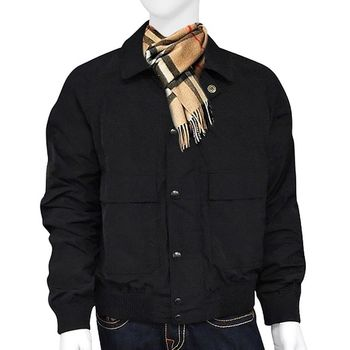 BURBERRY 輕量短版紳士夾克外套-L號/黑色