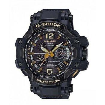 G-SHOCK 世界首款同步搭載高性能GPS電波概念錶-黑X金/56mm(GPW-1000VFC-1A)