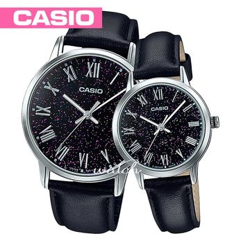 【CASIO 卡西歐 對錶系列】皮革錶帶_指針_浪漫情人對錶(MTP-TW100L+LTP-TW100L)