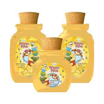 Disney Winnie The Pooh 小熊維尼香氛泡泡浴 350ml +沐浴膠 350ml +洗髮精 200ml