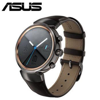 ASUS ZenWatch 3 義大利皮革時尚智慧型手錶-煙燻黑