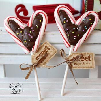 【JOYCE巧克力工房】聖誕節限定拐杖巧克力棒棒糖(10支/組)