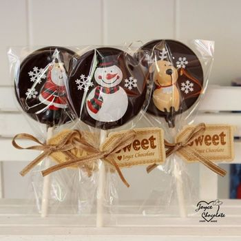【JOYCE巧克力工房】聖誕節限定版巧克力棒棒糖(10支/組)