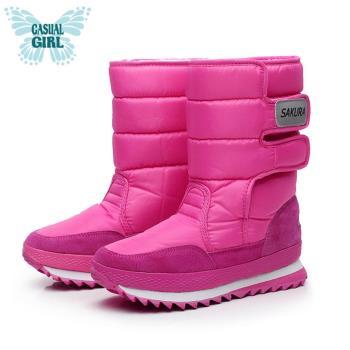 Casual Girl「SKR」保暖太空雪靴-洋紅