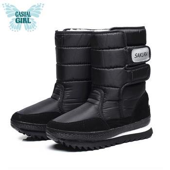 Casual Girl「SKR」保暖太空雪靴-黑色