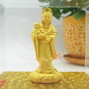[協貿國際]   絨沙金送子觀音菩薩佛像擺件