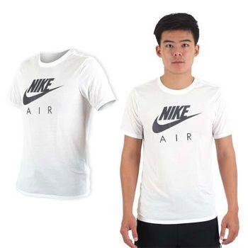【NIKE】男短袖針織衫-T恤 慢跑 路跑 訓練 白黑