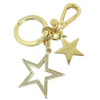 MICHAEL KORS 星星金屬吊飾鑰匙圈(金)