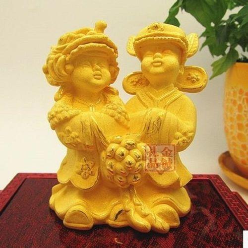 [協貿國際]   絨沙金結婚禮物創意擺件