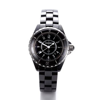CHANEL J12 經典陶瓷石英錶-黑/34mm