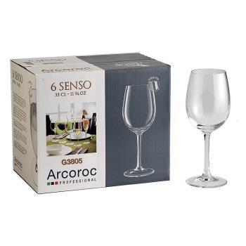 Arcoroc感觀高腳紅酒杯350cc六入組