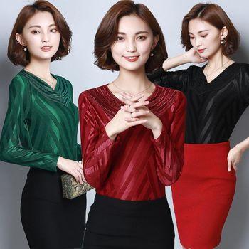 【理子時尚】韓版蕾絲優雅加絨長袖上衣(共三色)