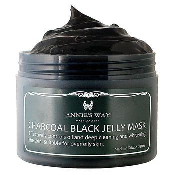 【安妮絲薇Annies Way】[女人我最大、美妝客愛用推荐] 炭元素瓷淨果凍面膜(250ml)