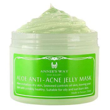 【安妮絲薇Annies Way】[女人我最大、美妝客愛用推荐] 蘆薈+海藻控油果凍面膜(250ml)