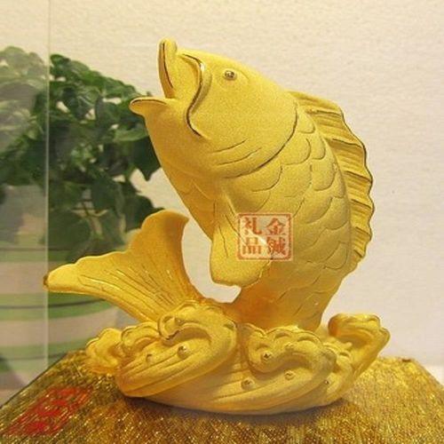 [協貿國際]   年年有餘金魚擺件