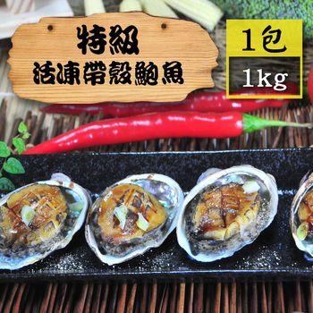 [漁季]特級活凍帶殼鮑魚1包(1000g±10%/包/18入)