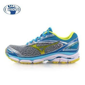 【MIZUNO】WIDE WAVE INSPIRE 13 女慢跑鞋-美津濃 水藍黃