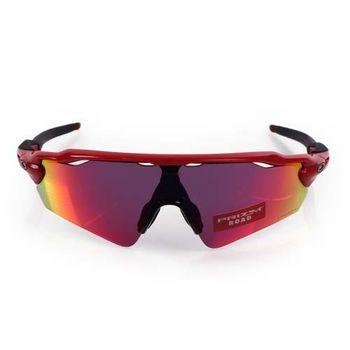 【OAKLEY】RADAR EV 道路用太陽眼鏡-附硬盒鼻墊 防霧 抗UV 紅黑