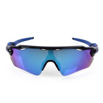 【OAKLEY】RADAR EV-附硬盒鼻墊 太陽眼鏡 抗UV 防霧 路跑 黑藍