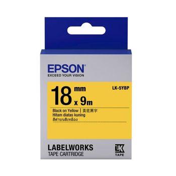 EPSON LK-5YBP 粉彩系列黃底黑字標籤帶(寬度18mm)
