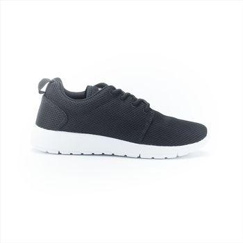 【美國 AIRWALK】極簡百搭透氣網布休閒運動鞋 -男-黑