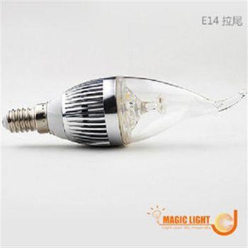 【光的魔法師 Magic Light】LED蠟燭燈泡 LED拉尾燈泡 5W 【兩入裝】