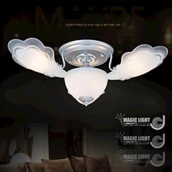 【光的魔法師 Magic Light】銀天使 半吸頂三燈 臥室燈具 吸頂燈飾