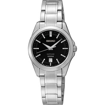 SEIKO CS 都會日期視窗女錶-黑/26mm 7N82-0HT0D(SXDF57P1)