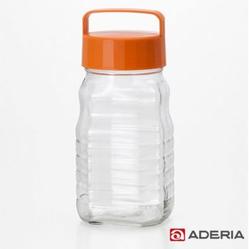 【ADERIA】日本進口玻璃梅酒瓶1200ml(橘)