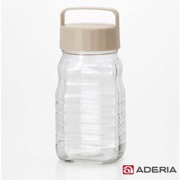 【ADERIA】日本進口玻璃梅酒瓶1200ml(白)